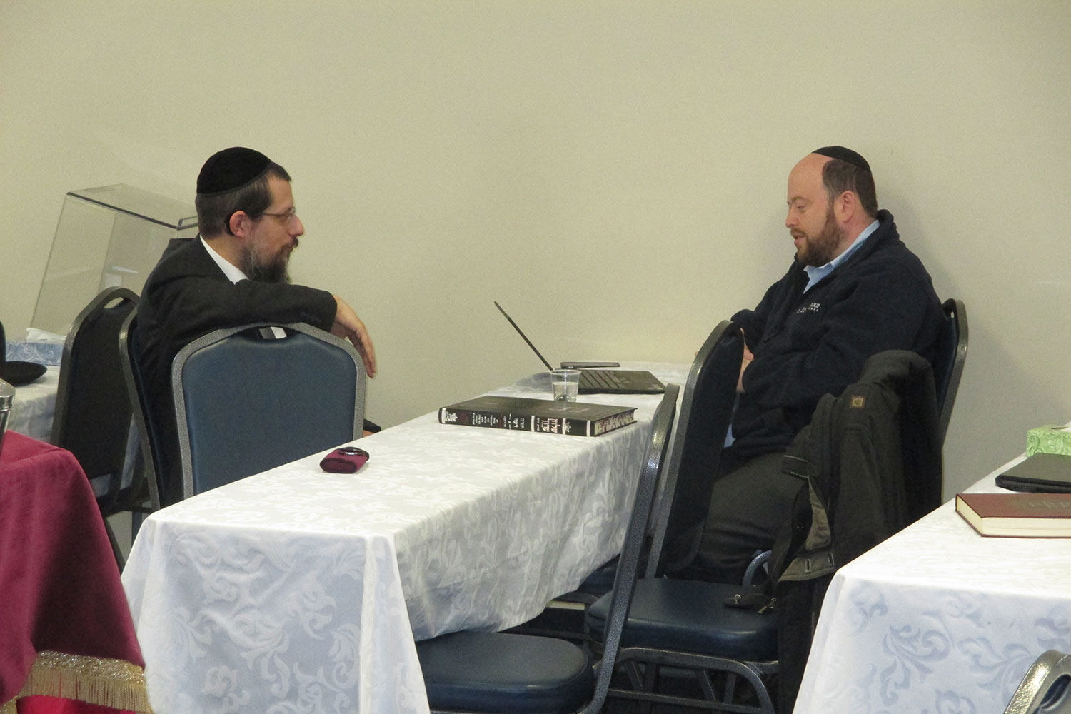 Rav Schenkolewski learning with David Aidelson