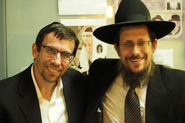 Rav Schenkolewski at Sukkos event hosted by Dr. Rubin