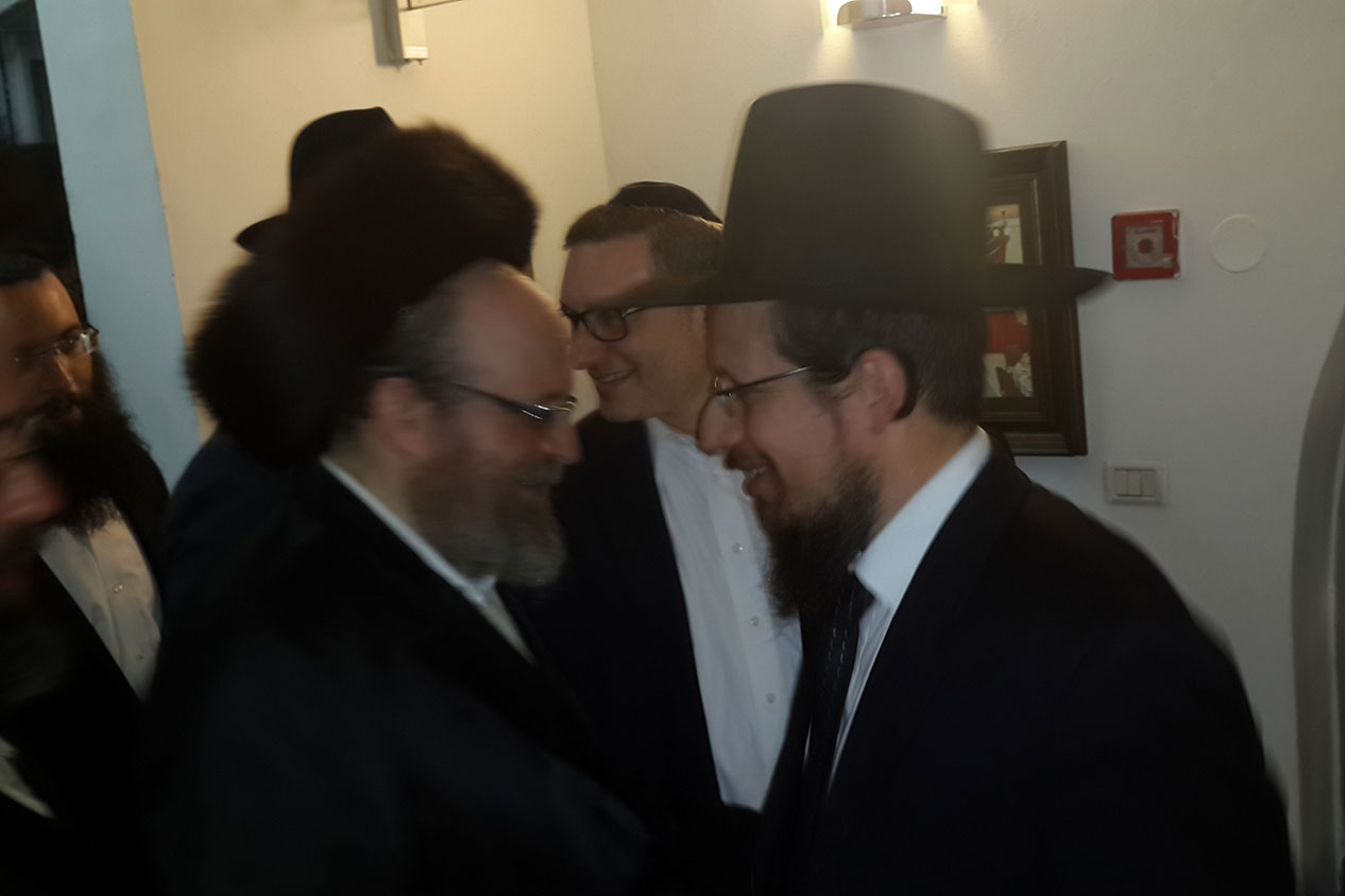 Rav Schenkolewski with Harav Moshe Weinberger